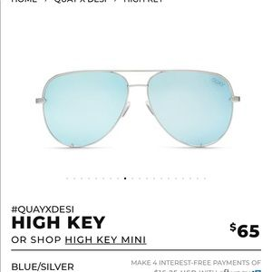 Quay x Desi Perkins HIGH KEY blue/silver USED